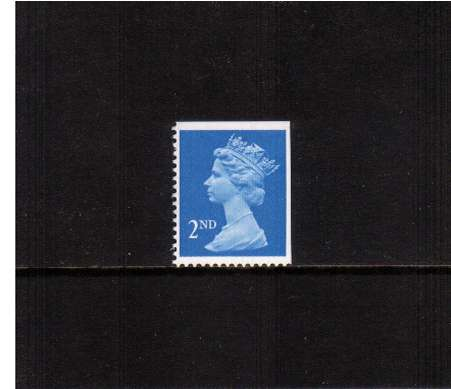 view larger image for SG 1445vv (28 Nov 1989) - 2nd Class - Bright Blue - Harrison - Photogravure<br/>Perforation 15x14 - Centre Band<br/>Imperforate at Top & Right