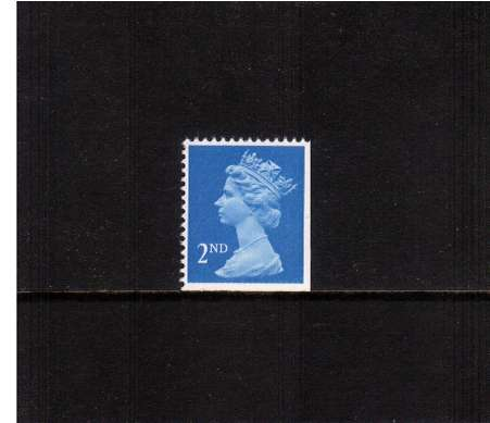 view larger image for SG 1445vvv (28 Nov 1989) - 2nd Class - Bright Blue - Harrison - Photogravure<br/>Perforation 15x14 - Centre Band<br/>Imperforate at Bottom & Right