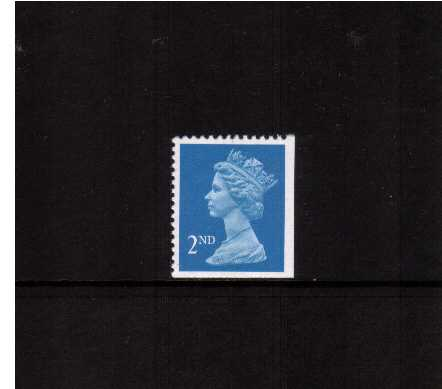 view larger image for SG 1449vvv (22 Aug 1989) - 2nd Class - Bright Blue - Walsall - Litho<br/>Perforation 14 - Centre Band<br/>Imperforate at Bottom & Right