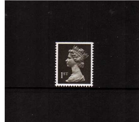view larger image for SG 1447 (22 Aug 1990) - 1st Class - Brownish Black - Harrison - Photogravure<br/>Perforation 15x14 - Phosphorised Paper<br/>Imperforate at Top