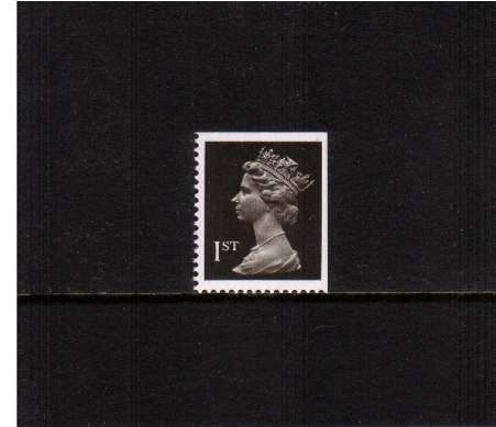 view larger image for SG 1447vv (28 Nov 1990) - 1st Class - Brownish Black - Harrison - Photogravure<br/>Perforation 15x14 - Centre Band<br/>Imperforate at Top & Right