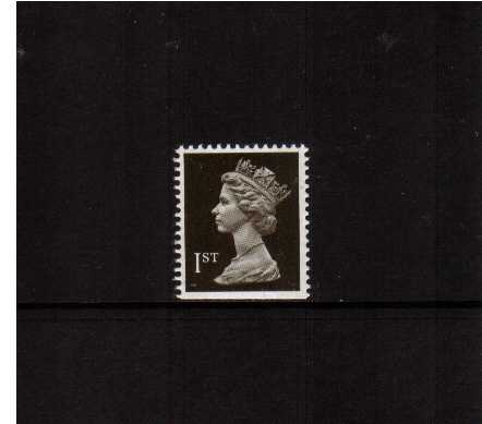 view larger image for SG 1450v (22 Aug 1990) - 1st Class - Blackish Brown - Walsall - Litho<br/>Perforation 14 - 2 Bands - <br/>Imperforate at Bottom