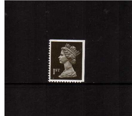 view larger image for SG 1450vv (22 Aug 1990) - 1st Class - Blackish Brown - Walsall - Litho<br/>Perforation 14 - 2 Bands<br/> Imperforate at Top & Right