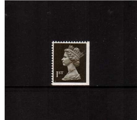 view larger image for SG 1450vvv (22 Aug 1990) - 1st Class - Blackish Brown - Walsall - Litho<br/>Perforation 14 - 2 Bands<br/>Imperforate at Bottom & Right