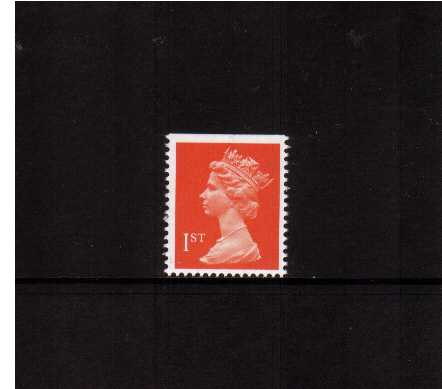 view larger image for SG 1512 (7 Aug 1990) - 1st Class - Orange-Red - Harrison - Photogravure<br/>Perforation 15x14 - Phosphorised paper<br/>Imperforate at Top
