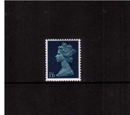 view larger image for SG 743c (10 Dec 1969) - 1/6d Prussian Blue and Indigo - All Over Phosphor
