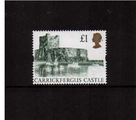 view larger image for SG 1611 (24 Mar 1992) - �1 Green & Gold 'Gold Head' Castle - Printed by Harrison