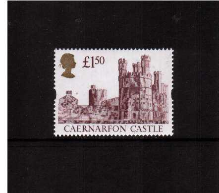 view larger image for SG 1612 (24 Mar 1992) - �1.50 Maroon & Gold 'Gold Head' Castle - Printed by Harrison