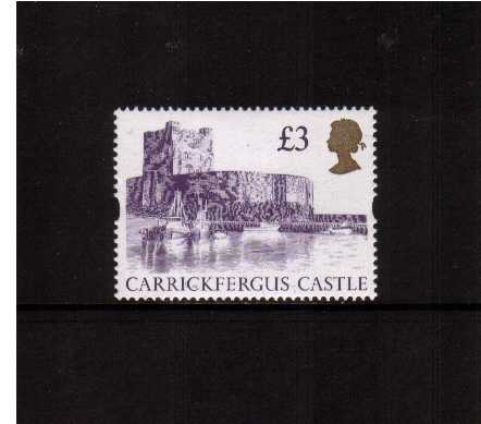 view larger image for SG 1613a (22 Aug 1995) - �3 Reddish Violet & Gold 'Gold Head' Castle - Printed by Harrison