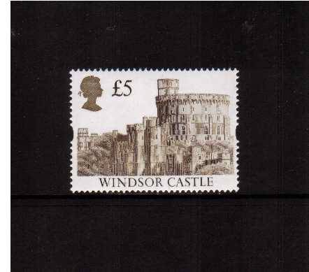 view larger image for SG 1614 (24 Mar 1992) - �5 Deep Brown & Gold 'Gold Head' Castle - Printed by Harrison