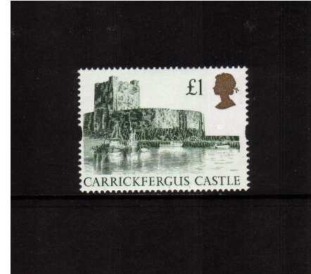 view larger image for SG 1611R (1994) - �1 Green & Gold 'Gold Head' Castle - Printed by Harrison but Re-Engraved resulting in minute design changes and deep richer colours oddly not listed by SG!