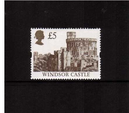 view larger image for SG 1614R (1994) - �5 Deep Brown & Gold 'Gold Head' Castle - Printed by Harrison but Re-Engraved resulting in minute design changes and deep richer colours oddly not listed by SG!