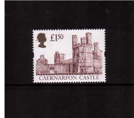 view larger image for SG 1993 (29 July 1997) - �1.50 Deep Claret & Gold 'Gold Head' Castle - Printed by Ensched�