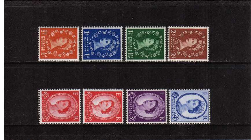 view larger image for SG 570a-576ab (1958) - Elizabeth II<br/>