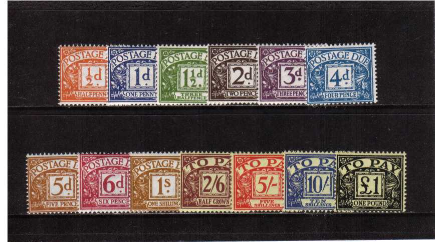 view larger image for SG D56-D68 (1959) - Multiple Crowns watermark set of thirteen.