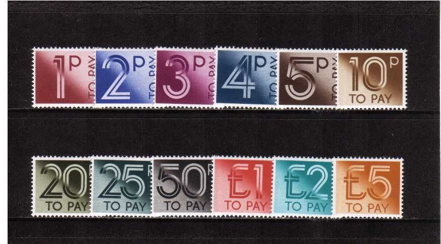 view larger image for SG D90-D101 (1982) - Postage Due  set of twelve