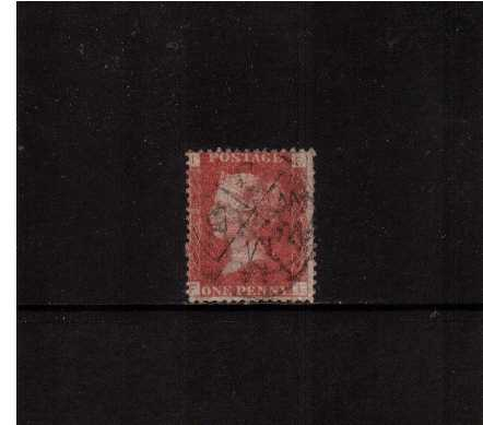 view larger image for SG 43 (1858) - 1d Rose Red from Plate 136 lettered 'F-I' cancelled with a LONDON mis-sort cancel. Scarce.