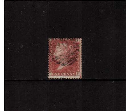 view larger image for SG 43 (1858) - 1d Rose-Red from Plate  172 lettered 'T-F'<br/>centered hight thus showing in SE corner marginal marking