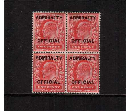 view larger image for SG O102 (1903) - <b>ADMIRALTY OFFICIAL</b><br/>