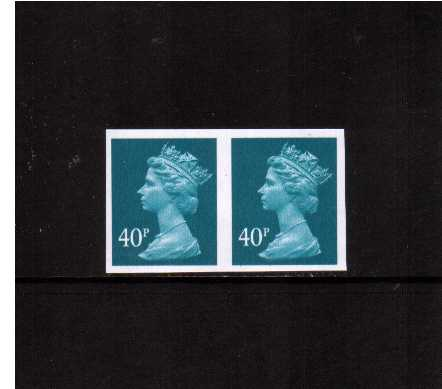 view larger image for SG Y1711a (2004) - 40p Turquoise-Blue - 2 Bands. A superb unmounted mint horizontal pair. Very scarce! SG Cat �850