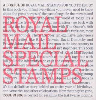 view larger image for Book No. 23 (2006) - Complete Year Book<br/>With all stamps included as defined by Royal Mail. Front of slipcase is pictured.