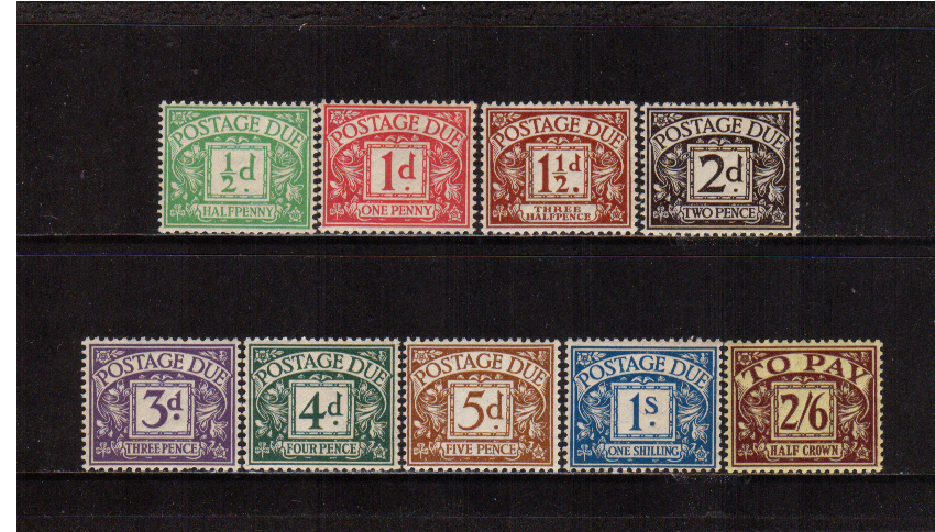 view larger image for SG D10-D18 (1924) - Block Cypher set of nine <br/>Superb unmounted mint.<br/>SG Cat �725