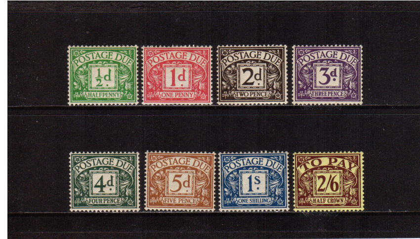 view larger image for SG D19-D26 (1936) - Edward 8th Watermark set of eight <br/>Superb unmounted mint.<br/>SG Cat �550