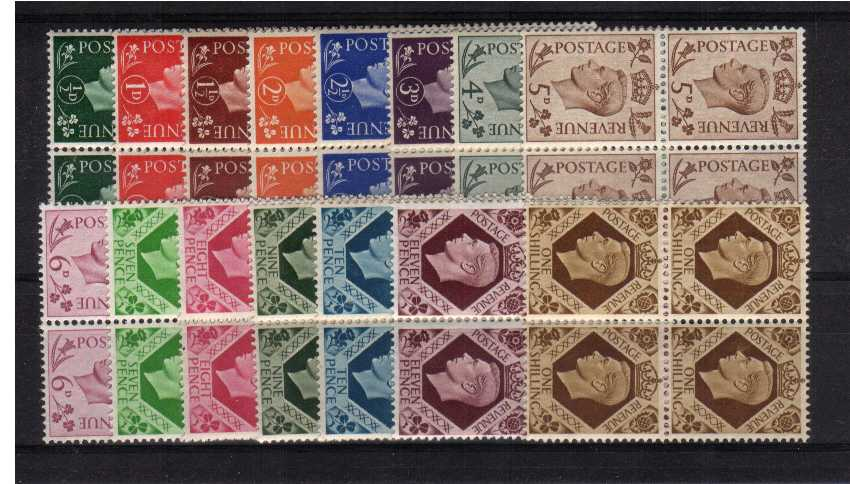 view larger image for SG 462-475 (1937) - Superb unmounted mint set of fifteen in blocks of four