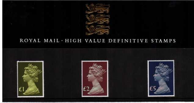Stamp Image: view larger back view image for MACHIN HIGH VALUES �1-�5 <br/>A very scarce pack, seldom seen!  SG Cat �180