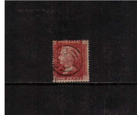 view larger image for SG 43 (1859) - 1d Rose-Red from Plate 145 lettered 'J -D'. A bright and fresh stamp cancelled with the rare SALISBURY CDS (without pins) A rare cancel!