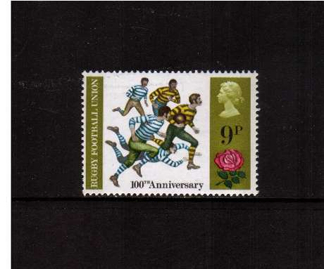 view larger image for SG 889 (1971) - 9p British Anniversaries - Rugby Football<br/>commemorative odd value