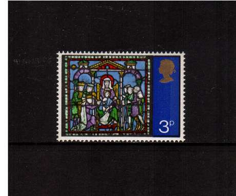 view larger image for SG 895 (1971) - 3p Christmas  - Stained Glass Windows<br/>commemorative odd value