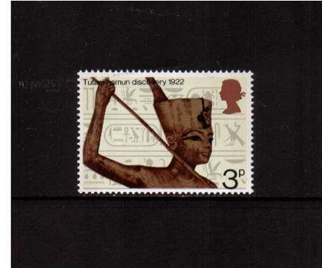 view larger image for SG 901 (1972) - 3p Anniversaries - Statue of Tutankhamun<br/>commemorative odd value