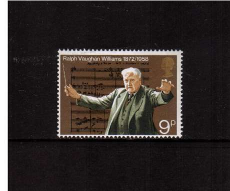 view larger image for SG 903 (1972) - 9p Anniversaries - Ralph Vaughan Williams - Music<br/>commemorative odd value