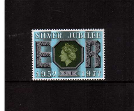view larger image for SG 1033 (1977) - 8�p Silver Jubilee  -<br/>commemorative odd value