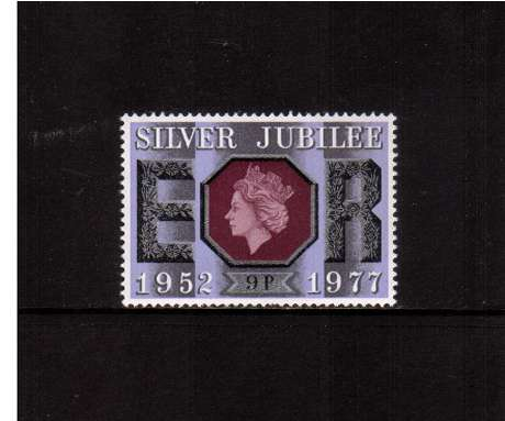 view larger image for SG 1034 (1977) - 9p Silver Jubilee   -<br/>commemorative odd value