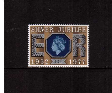 view larger image for SG 1035 (1977) - 10p Silver Jubilee   -<br/>commemorative odd value