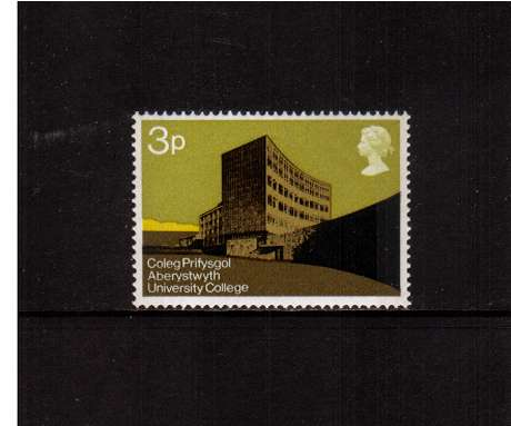 view larger image for SG 890 (1971) - 3p University Buildings  - Aberystwyth<br/>commemorative odd value