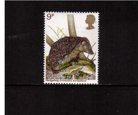 view larger image for SG 1039 (1977) - 9p - British Wildlife  - Hedgehog<br/>commemorative odd value
