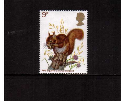 view larger image for SG 1041 (1977) - 9p - British Wildlife  - Red Squirrel<br/>commemorative odd value