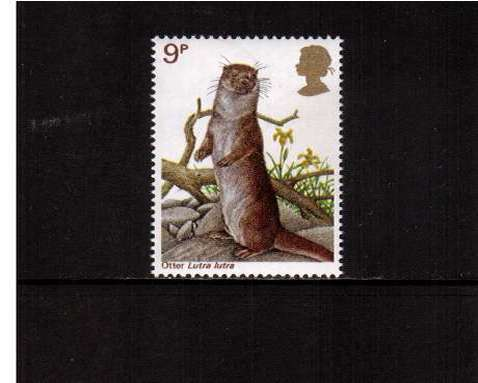 view larger image for SG 1042 (1977) - 9p - British Wildlife  - Otter <br/>commemorative odd value