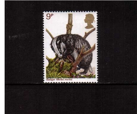 view larger image for SG 1043 (1977) - 9p - British Wildlife  - Badger<br/>commemorative odd value