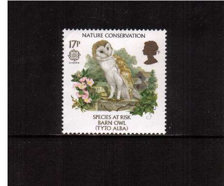 view larger image for SG 1320 (1986) - 17p -  EUROPA  - Nature Conservation - Barn Owl