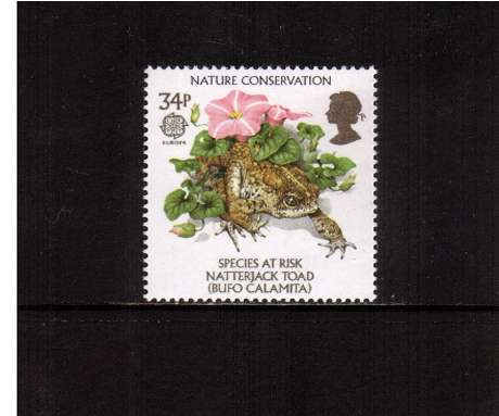 view larger image for SG 1323 (1986) - 34p -  EUROPA  - Nature Conservation - Natterjack Toad