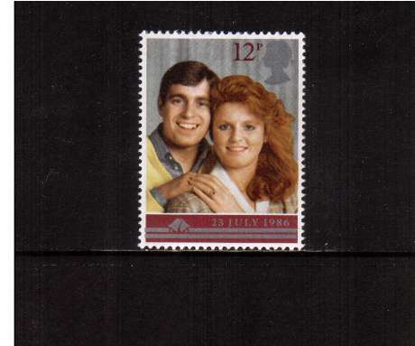 view larger image for SG 1333 (1986) - 12p - Andrew - Sara - Royal Wedding 