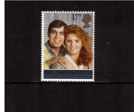 view larger image for SG 1334 (1986) - 17p - Andrew - Sara - Royal Wedding 