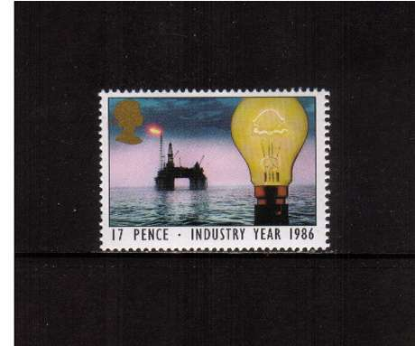 view larger image for SG 1308 (1986) - 17p - Industry Year - Light Buld and Oil Rig