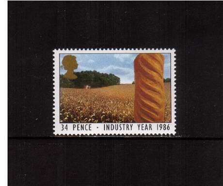 view larger image for SG 1311 (1986) - 34p - Industry Year - Bread and Cornfield