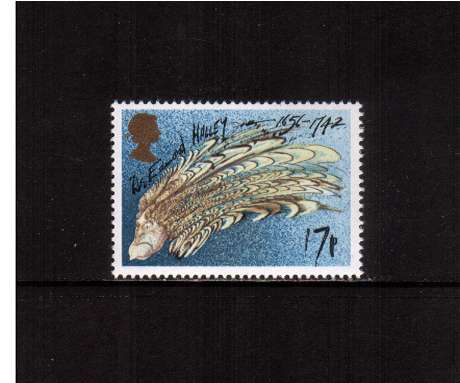 view larger image for SG 1312 (1986) - 17p - Halley's Comet  - Dr Edmond Halley as a Comet