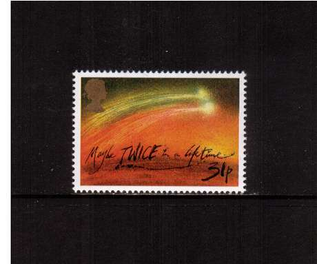 view larger image for SG 1314 (1986) - 31p - Halley's Comet  - 'Maybe twice in a Lifetime'